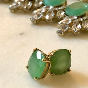 Kate Spade Small Square Studs in Blue/Green
